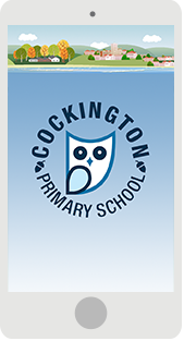 Screenshot of the Cockington Primary School App