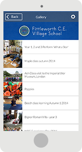 Screenshot of the Fittleworth School Mobile App