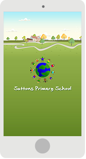Screenshot of the Suttons Primary School App